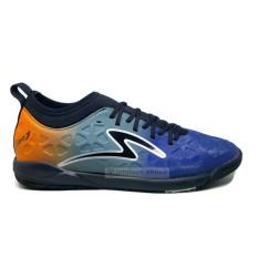 Sepatu Futsal SPECS SWERVO INERTIA IN Galaxy Blue Anthracite Grey Spirit Orange Black Silver