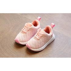 Sepatu Kets Anak Prempuan Murah / Sepatu Olahraga Anak Cewek Sport / Joging / Lari / Runing / Outdoor / Sepatu Sekolah Anak Cewek Wanita Murah Pink