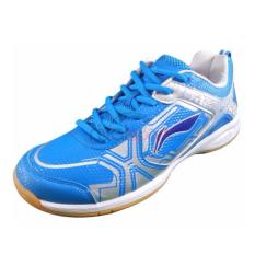 SEPATU LINING JAZZ AYTL199 - 4 ORIGINAL BLUE WHITE BADMINTON SHOES BULUTANGKIS ADHA SPORT