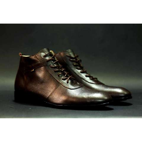 Sepatu Pantofel Boots Formal Kulit Pria - CVNY Kickers Brodo Boot Formal  Crocodile ade617e3f6