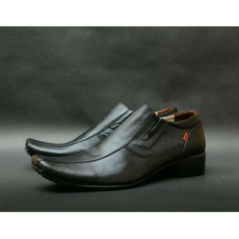 Sepatu Pantofel Kerja Kantor Pesta Wedding wisuda Slipon Kulit asli