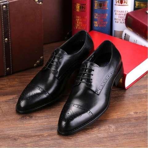 Sepatu Pantofel Oxford Pria Kulit Asli
