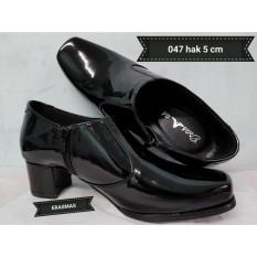 Sepatu PDL Sus Erasmas Resleting ANGKLE BOOTH Polwan Kowad DISHUB POL PP Security 047 HAK 5 CM