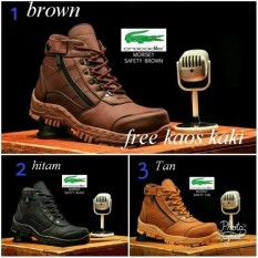 sepatu pria boots crocodile morrisey safety sleting hangout hiking touring trevelling original handmade