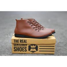 Sepatu pria semi boots formal casual avail SPORTSTER Brown Brodo