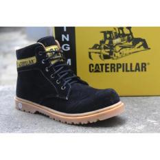 Sepatu safety caterpillar, sepatu boots pria caterpilar warna black, sepatu gunung