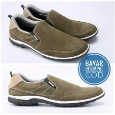 Sepatu Slip On KULIT ASLI - Sneakers Casual Pria