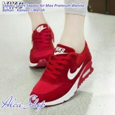 Sepatu Sport Sepatu Air Max Premium Wanita - Merah - ALC211STD