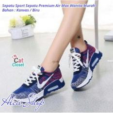 Sepatu Sport Sepatu Premium Air Max Wanita Murah - Biru - ALCB062BTD