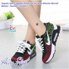 Sepatu Sport Sepatu Premium Air Max Wanita Murah - Hitam - ALCH062BTD