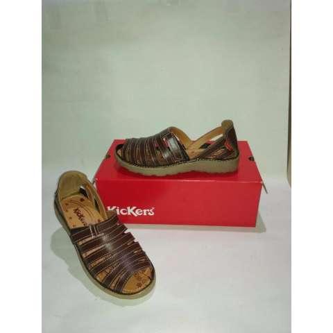 Flat Shoes Cewek Kickers Original Leather Old Brown Combine. Source · Sepatu Tali Kickers Wanit Coklat Flat