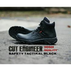 Sepatu Tracking Gunung Safty Boots Pria - CUT ENGINEER CE34 - Hitam