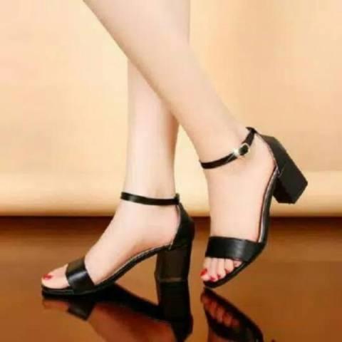Supplier Sepatu wanita High heels KD 08 hitam