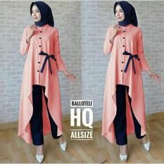 set 2in1 anastasya / setelan / baju muslim / gamis muslim / hijab / busana muslim