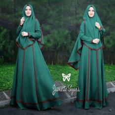 Set Muslim Imelda / Gamis Fashion Maxi / Syari Simple Elegant / Baju Muslim Wanita (nettaja) SS - Tosca
