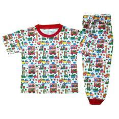 Setelan Baju Tidur Piyama Anak Laki -laki Lengan Pendek PB4-001
