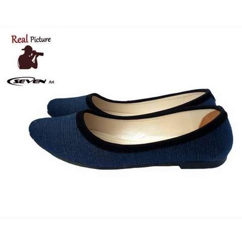 Seven Sepatu Wanita Flat Denim - RB