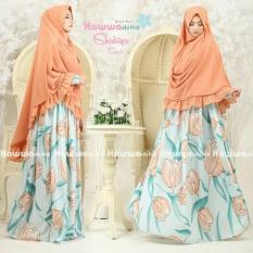 Gamis Syari Shabiya Orange Original by Hawwa Aiwa READY