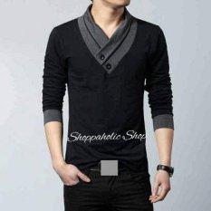 Shoppaholic Shop Baju Pria Victor - Hitam / Baju Pria / Kemeja Pria / Baju Santai Pria / Baju Muslim Pria / Kemeja Formal