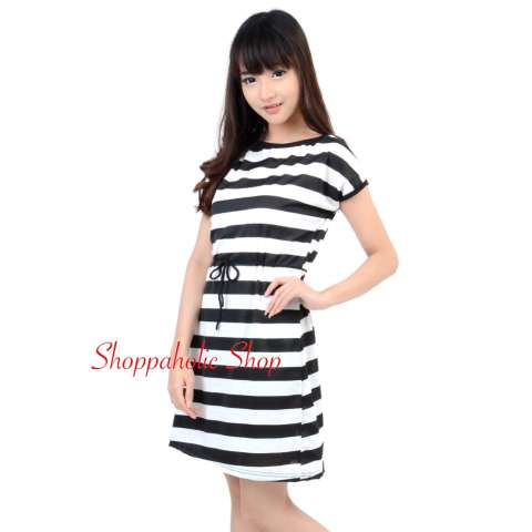 ... Gaun Pink Murah / Princess Dress. Source · Shoppaholic Shop Dress Wanita Juliet Stripes / Dress Pesta / Dress Santai / Dress Korea /