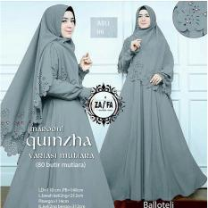 Shoppaholic Shop Maxi Dress Gamis Hijab Quinzha Mutiara - Abu /Dress Muslimah / Hijab Muslim / Gamis Syari / Baju Muslim / Fashion Muslim / Dress Muslim / Fashion Maxi / Setelan Muslim / Atasan Muslimah / Balloteli / Gamis Mutiara / Jilbab / Hijab/ Bergo
