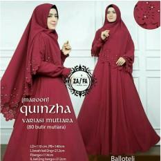 Shoppaholic Shop Maxi Dress Gamis Hijab Quinzha Mutiara - Maroon / Dress Muslimah / Hijab Muslim / Gamis Syari / Baju Muslim / Fashion Muslim / Dress Muslim / Fashion Maxi / Setelan Muslim / Atasan Muslimah / Bergo / Balloteli /Gamis Balloteli
