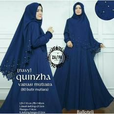 Shoppaholic Shop Maxi Dress Gamis Hijab Quinzha Mutiara - Navy / Dress Muslimah / Hijab Muslim / Gamis Syari / Baju Muslim / Fashion Muslim / Dress Muslim / Fashion Maxi / Setelan Muslim / Atasan Muslimah /Gamis Balloteli / Bergo