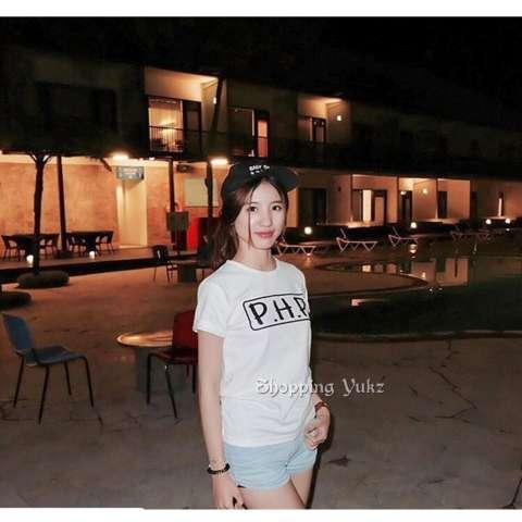 Shopping Yukz Kaos Wanita PHP - WHITE / T-shirt Wanita / Kaos Cewek /