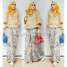 Shopping Yukz Setelan Kulot Wanita CORNELIA ( Tanpa Pasmina) / Stelan Muslimah / Baju Muslim / Stelan Kulot