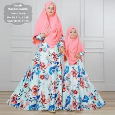 silentriver88 gamis muslim syari ibu dan anak lux nagita (couple)