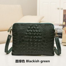 small leather bag tide shoulder messenger new lady crocodile hand clutch