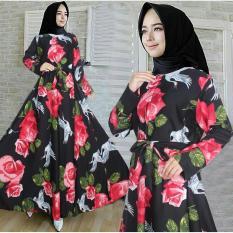 Snowshop Gamis Syari Muslim Caliana - Dress Muslimah / Baju Muslim / fashion / maxi / fashion wanita