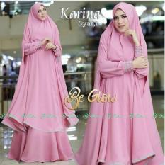 Snowshopkita Jersey Premium Gamis Syari Karina - Pink