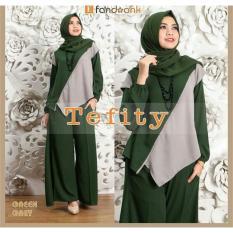 Snowshopkita Baju Muslim Setelan Tefity 3in1 - Hijau