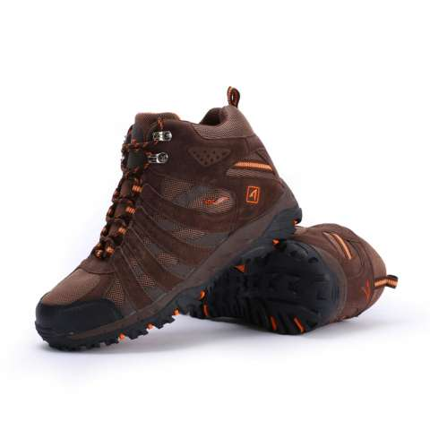 SNTA Sepatu Hiking/Gunung Semi Waterproof Sepatu Outdoor 476 Cokelat Oranye