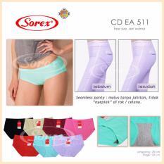 SOREX - 3 Pcs Celana Dalam Wanita - SOREX art EA511 - Seamless (Tanpa Jahitan)