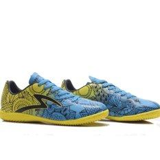 Specs Flora In Spot Yellow Cirrus Blue Black  Sepatu Futsal