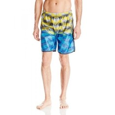 Speedo Mens Mesh Blend Hydrovolley with Compression Jammer, Vibrant Yellow, - intl