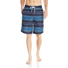 Speedo Mens Straight Away Stripe E-Board 21 Inch, Speedo Black, - intl