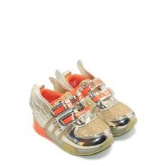 Spike Sepatu Sneakers Anak Laki-Laki LED BYU 5359 - GOLD