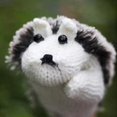 Sunshop Women Cute Cartoon Hedgehog Gloves Warm Outdoor Winter Mittens Knit Crochet Gloves (White)