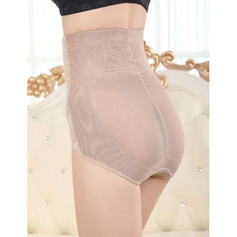 Sunwonder Wanita Panggul Kontrol Tubuh Korset Tinggi Pinggang Yg Melangsingkan Tummy Perut Shaper Pakaian Dalam (Aprikot)-Internasional 4