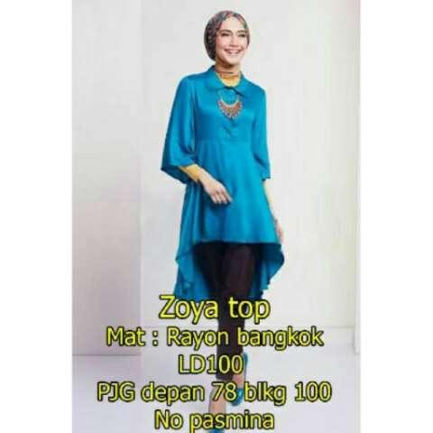 Ayako Fashion Tunik Muslim Vexia Lengan Panjang Source SW Zoya Top .