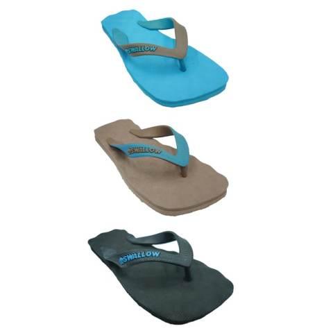 Sandal Swallow Premium SPECTRUM Pria - Bundle 3 Pasang Biru-Coklat-Hitam