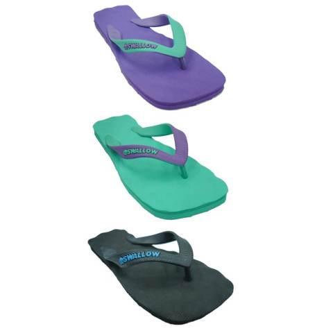 Swallow Sandal Premium SPECTRUM Karet Alami - Bundle 3 Pasang Violet -Hijau-Hitam