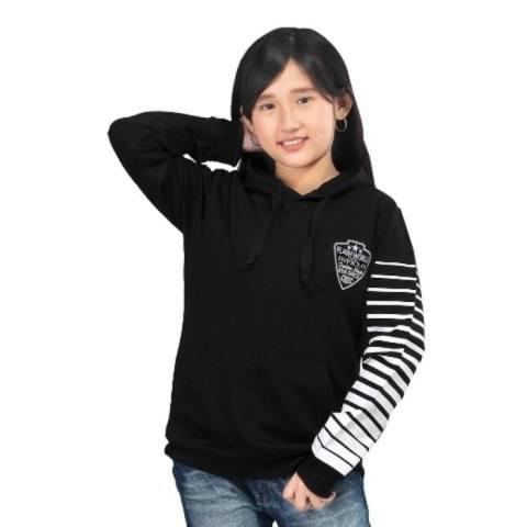 Sweater anak wanita hitam salur - Jaket distro murah BKL ori 1