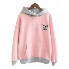 Sweater Hodie Wanita - x Love Sweater - Fleece - Pink