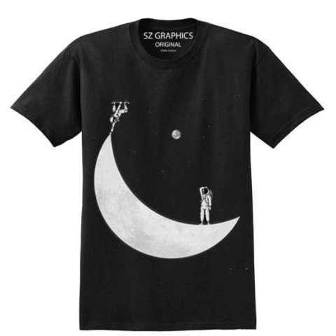 Beli Sz Graphics Astronot T Shirt Pria Wanita Kaos Pria Wanita Hitam Harga Rp 145.000