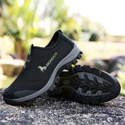 Tahan lama Sepatu Olahraga Luar Ruangan Pria Super Bernapas Sepatu Jala  Sepatu Hiking Lembut Sepatu Berjalan 6a9343c739