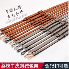 Tali Paket Aksesoris Sabuk Tas Ransel Tas Bahu (Oranye Besar Motif Kulit Imitasi 1.8*130 Hitam Gun Berlapis)